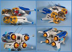 Quad Jumper (Bricksky) Tags: friends star starwars picnic lego pug rey scifi spaceship wars finn moc bricksky quadjumper