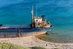 Shipwreck, closer look (decafeined) Tags: bozcaada shipwreck sea aegean canakkale turkey travel nature ship boat ayazma beach blue