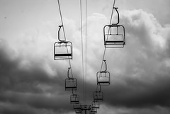 Abandoned Ski Lifts (aliroocroft) Tags: white black ski alps abandoned walk hike and lifts the