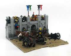 Chariot Race (W. Navarre) Tags: chariot race wall flags banners people crowds horses winner lego navarre girl
