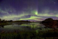 Night of the Unicorn (John Andersen (JPAndersen images)) Tags: alberta aurora bigdipper colourful madden night pond stars