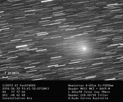C/2013 X1 PanSTARRS on 2016-06-30_kudo (cairnsnaturealbum) Tags: australia astrophotography cairns x1 nq deepsky southernsky skywatcher panstarrs astroart heq5pro c2013 qhy9m bkp200 cooledccd baadermpccmkiii northqeensland
