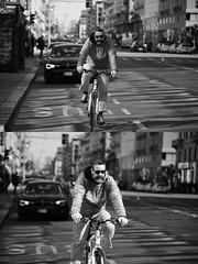 [La Mia Citt][Pedala] (Urca) Tags: milano italia 2016 bicicletta pedalare ciclista ritrattostradale portrait dittico bike bicycle biancoenero blackandwhite bn bw 872169