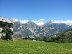 20160703_130603 (coldgazemedia) Tags: photobank stockphoto switzerland alps swissvillage swissalps swisshuts swissfarm grass grassland meadow scenery landscape bluesky blue farmland mountain snowmountain unterbach wallis valais alpine alpinehut green pasture tree outdoor