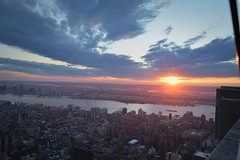 Sunset over NYC (WinterTheWusky) Tags: sunset nyc empire state building