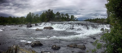 Waterfall in Valdres, Norway 3 photos stitched. iphone6+ (JRJ.) Tags: norge norway valdres tisleidalen nature waterfall greyday stitched