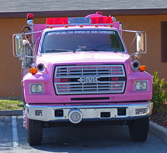 Pink Fire Engine The Villages #2 (gg1electrice60) Tags: pink hope support florida fireengine shoppingcenter wildwood breastcancer fmc fordmotorcompany sumtercounty searchingforacure lookingforacure supportingthewomenofourcommunity