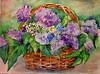 La Canasta de Flores (benilder) Tags: flores mimbre aquarelle lilies watercolour canasta acuarela lilas cesta pensamientos benilde
