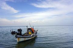 old (tolisk9) Tags: old sea sky boat greece macedonia timeless makedonia