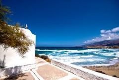 Tiny Church (phunkstarr) Tags: beach church greece paros galini amiti