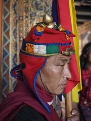 guard of punaka dzong (alison ryde - back in town for now) Tags: travel people holiday festival march clothing asia bhutan buddhist buddhism east kira punaka february himalaya traditionalcostume tego phototrip 2015 rachus wonju tribalcostume kingdomofbhutan himalayankingdoms bhutanesepeople alisonryde olympusem1