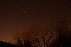 ISS, Jupiter and M44 (simon.mangnall) Tags: nottingham trees station stars nikon space international nightime jupiter iss m44 d3200 backyardastronomy