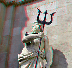 Cascada Barcelona 3D (wim hoppenbrouwers) Tags: barcelona fountain statue 3d anaglyph stereo gaudi cascada redcyan fontmonumental