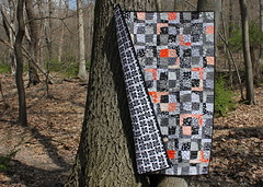 Turboprop Quilt Back Flip (Modern Quilting by B) Tags: paper quilt machine foundation quilting piece tutorial turboprop pieced freemotion
