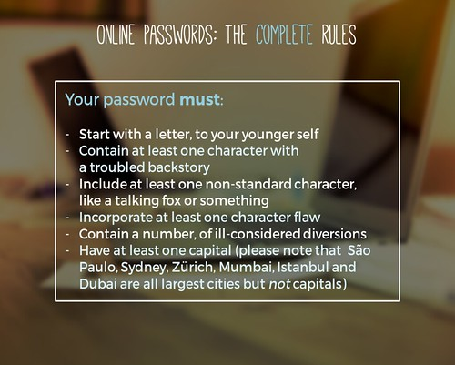 How to choose a password by thewikiman, on Flickr
