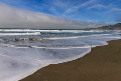 Sand and Fog (Davor Desancic) Tags: ocean california beach sand waves pacific bolinas pointreyes