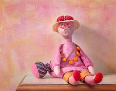 Little Wooden Doll (JMS2) Tags: pink stilllife texture zeiss canon 50mm doll