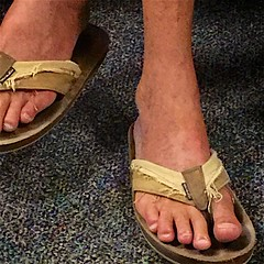 Toes & flip-flops (LarryJay99 ) Tags: toes style dudes guys feet sandals man guy flipflops male men dude photostream iphone6plusbackcamera415mmf22