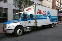 Atlas Van Lines (So Cal Metro) Tags: movingtruck truck freightliner movingvan atlas atlasvanlines sandiego downtown gaslamp gaslampquarter