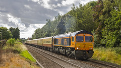 66760 Bamber Bridge (mike.online) Tags: class66 gbrf bluebird shed 66760 66759 bamberbridge ukrail ukrailways train locomotive heavyhaul