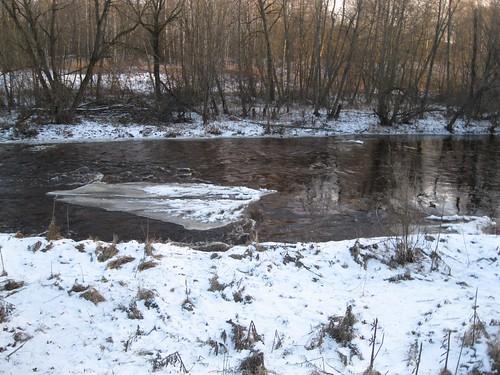 Рыбинск. р.Черёмуха зимой.