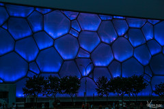 Water Cube - Olympic Stadium (Val Guid'Hall) Tags: beijing pkin chine china stadium olympic birds net games asie asia sports capital architecture outdoor landscapes 2016 forbidden city cit interdite tower observation park green lights trails highway dof water cube
