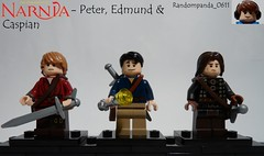 Peter, Edmund & Caspian (Random_Panda) Tags: films film movie movies tv show shows television lego fig figs figures figure minifig minifigs minifigure minifigures characters character narnia caspian prince