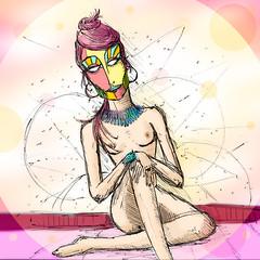 Furta cor (Alan Kubota - A.O.K) Tags: adorno art colors arte mask mascara iridescent iridescence cor kubota furtacor androgeno alankubota