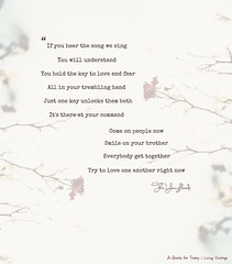 Try to love one another - it's 1 of 52 quotes on Living Vintage's 52 week project (Living Vintage) Tags: love lyrics key song verse