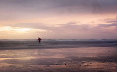 Teach a man to fish... (Alex Wrigley) Tags: landscape landscapes sunset beach coast coastal sea seascape evening dusk waves sand man landscapephotography lakedistrictphotography lakedistrict coastalphotography coastline beachphotography stormybeach wind