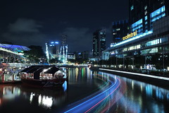 Clarke Quay (jcjocom) Tags: longexposure nightphotography night singapore fujifilm clarkequay