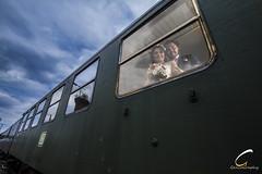 Wedding photo shooting in Hanau (GencoGraphy) Tags: hanau wedding canon weddingphotography train railways bride