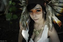amlie amerindien (Xavier R. photography) Tags: girl fille femme cute belle amerindien amerindian shooting theme composition indien indienne native american european nikon d200 35mm 18 28 portrait