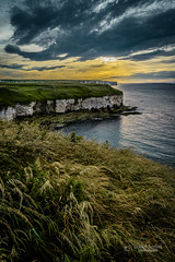 Sunset at the seaside (tbnate) Tags: tbnate nikon nikond750 d750 hdr flamborough northlanding yorkshire eastridingofyorkshire seaside sea northsea sunset sun clouds dusk outdoor outside goldenhour cliff sky landscape nature