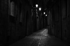 the old Jewish Quarter (Jordi sureda) Tags: girona catalunya blackandwhite nikon night street misterioso mystery jordisureda stone