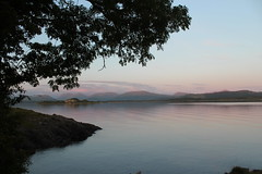 From the croft...Stokers Cottage (Julie Rutherford1) Tags: stokers cottage lismore isle mountains sunset scotland sea