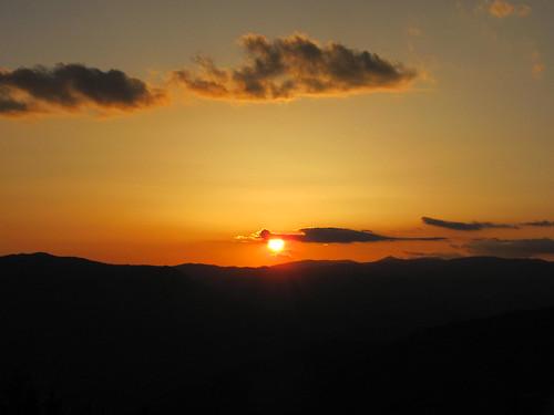 Залез над Голема планина / Sunset over Golema mountain