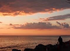 Pastel Light (mikecogh) Tags: glenelg sunset horizon silhouette sea clouds pastel