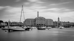 Royal William Yard (Rich Walker75) Tags: plymouth devon longexposure hoya prond1000 blackwhite blackandwhite monochrome landscape boat boats architecture building landscapes
