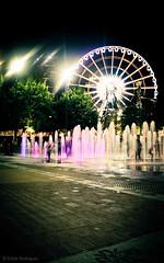 Fountain Wheel (eduardo.rodriguez87) Tags: ifttt 500px atlanta city cityscape cityscapes showcase water centennial olympic park ferris wheel fountains lights night olympics purple fountain centennialolympicpark ferriswheel waterfountain