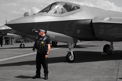 On Guard (Al Henderson) Tags: f35 jsf fairford lf 56thfw airtattoo aviation riat lukeafb military gloucestershire lockheedmartin airshow f35a 125058 raf dunfield england unitedkingdom gb