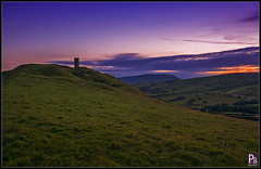 Blacko Tower towards Pendle (pbassek) Tags: blackotower blacko pendle hill lancashire pendlehill evening sunset treated photoshop purple bassek images nikon d5200 sigma 1020mm