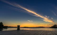 Vrmd Sunset [Explored September 8 2016] (redfurwolf) Tags: vrmd archipelago stockholm sweden sunset cloud outdoor sea baltic pier orange blue redfurwolf sonyalpha venus sal2470za