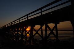 Fort Foster - Kittery Point, ME (jamesmerecki) Tags: sunset fortfoster sunsetting sundown pier silhouette kitterypoint me maine colors park statepark