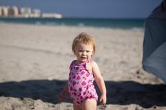 Emily posing at the beach (dan.oxlade) Tags: swimming d40 nikkor nikkor50mm118g travel toddler girl