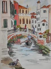 Gondola on the Canal (joantav1) Tags: venice canals gondolas