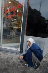 Refugees are European, too. Schaerbeek, October 2016. (joelschalit) Tags: brussels bruxelles roma gypsy schaerbeek beggar hunger racism women