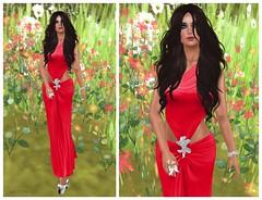 199 - Spring in red (feat. Hilly Haalan) (Sannita_Cortes) Tags: fashion butterfly truth dress ring jewellery sl secondlife heels hh ikon dmz virtualworld slink akini glamrus virtualfashion glamaffair hillyhalaan