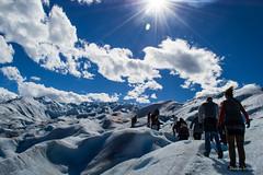 Walking in Perito Moreno - El Calafate, Santa Cruz, Argentina (Fotografas Daiana Soriano) Tags: travel santacruz travelling argentina walking landscape land peritomoreno elcalafate
