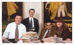 1992 - Lancio della catena del settimanale QUI (ex Nuovo Ravennate, Bassa Romagna e il Sette) c/o la sede di Publimedia Italia in via Pirano, 7 - A. Masacci, C. Serafini, Gp. Zinzani, R. Fucci
